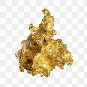 Golden Rock Free Pull Element - Gold Mineral Or Natif Mining Chemical Element PNG