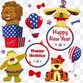 New Year's Celebration Circus Animals - Circus Chinese New Year PNG