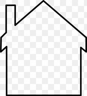 Silhouette - Silhouette House Clip Art PNG
