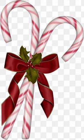 Rusk - Candy Cane Lollipop Christmas Clip Art PNG