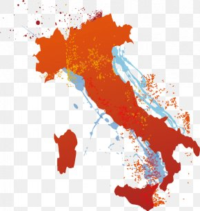 Creative Colorful Italy Map - Italy Map Clip Art PNG