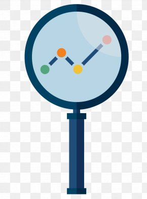 Vector Magnifying Glass A Line Chart Material PPT - Euclidean Vector Magnifying Glass Chart Illustration PNG