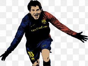 Messi Cartoon - Argentina National Football Team FC Barcelona Stencil Art Copa América Centenario PNG