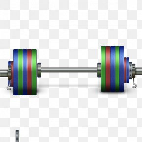 Stereo Color Barbell - Exercise Equipment Barbell Olympic Weightlifting Computer File PNG