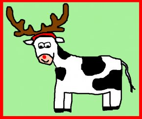 Cow Christmas Cliparts - Reindeer Cattle Christmas Santa Claus Clip Art PNG