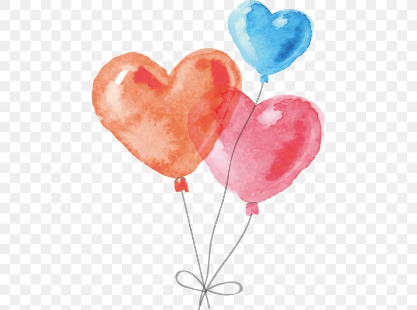 Watercolor Painting, PNG, 458x610px, Watercolor Painting, Balloon, Drawing, Heart, Lollipop Download Free