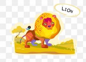Lion - Lion Euclidean Vector Cartoon Animal PNG