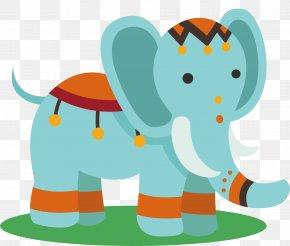 Blue Elephant Vector - Elephant Euclidean Vector Clip Art PNG
