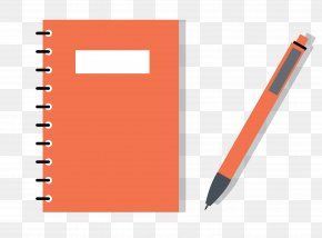 Notebook Pencil - Paper Laptop Pencil Notebook PNG