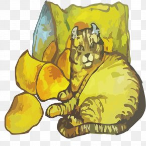 Cats And Potato Chips - Cat Tiger Download Illustration PNG
