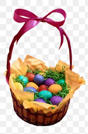 The Eggs In The Basket - Paskha Easter Kulich Basket PNG