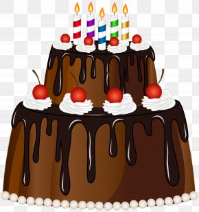 Birthday Cake With Candles Clip Art Image - Birthday Cake Cupcake Chocolate Cake Torte PNG