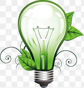 Green Light Bulb - Incandescent Light Bulb Lighting PNG