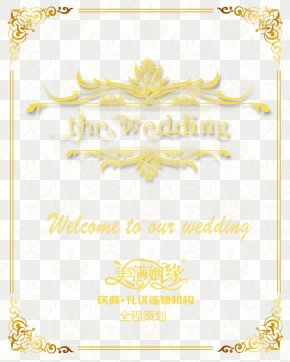 Wedding Welcome Card - Paper Yellow Area Pattern PNG