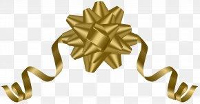 Gold Deco Bow Transparent Clip Art - Gold Bow And Arrow Clip Art PNG
