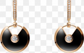 Jewelry Model - Earring Cartier Jewellery Diamond Colored Gold PNG