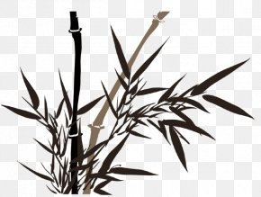 Painting - Bamboo Painting Ink Wash Painting Drawing PNG