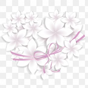 Ribbon Stereo Flower - Flower Papercutting 3D Computer Graphics PNG