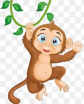 Jumping Monkey - Monkey Illustration PNG