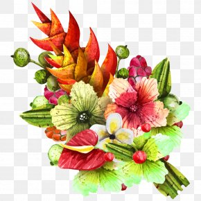 Tropical Plants - Flower Bouquet PNG