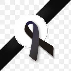 BLACK RIBBON - Black Ribbon Mourning Clip Art PNG