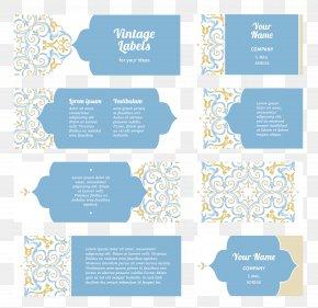 Flower Pattern Business Card - Business Card Flower Pattern PNG