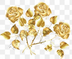 Gold Background Mothers Day Rose Gold - Clip Art Vector Graphics Rose Flower PNG