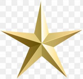Gold Star Transparent Clip Art - Silver Star Clip Art PNG