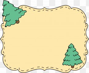 Christmas Tree Text Border Label - Christmas Tree Clip Art PNG