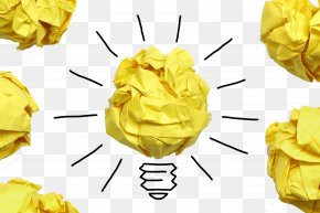 Ball Of Paper And Light Bulbs - New Product Development Innovation Marketing Idea PNG