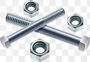 Screw And Nut - Bolt Nut Screw Stainless Steel Fastener PNG
