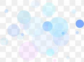 Blue Dot Floating - Blue Sky Pattern PNG