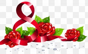 8 March With Roses PNG Clipart Picture - March 8 International Women's Day Clip Art PNG