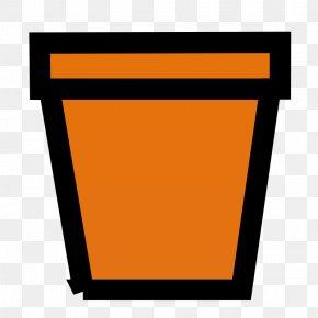 Orange Trash - Flowerpot Houseplant Clip Art PNG