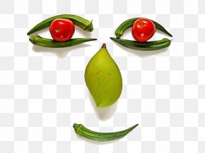 Smiley Face Composed Of Fruits And Vegetables - Vegetable Face Fruit Stock Photography Tomato PNG