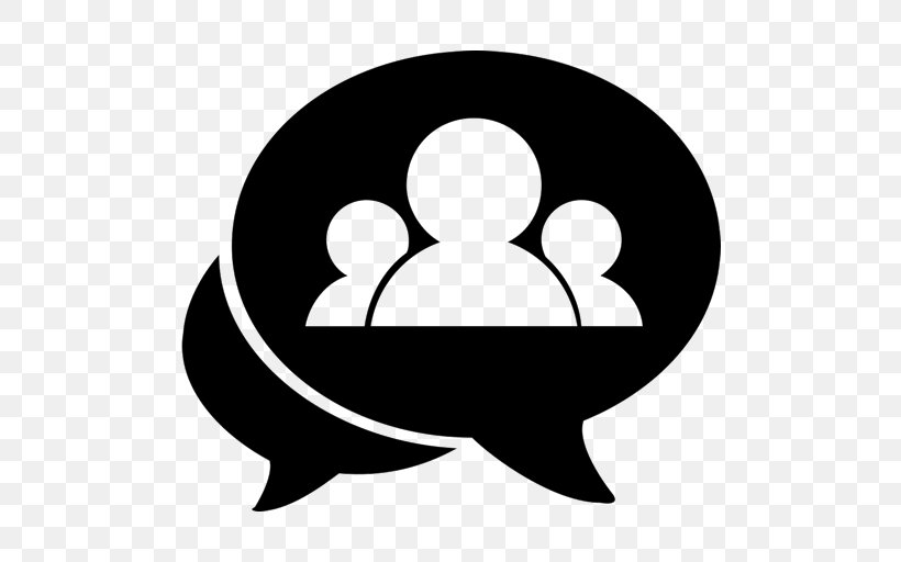 Chat Room Online Chat LiveChat Discussion Group, PNG, 512x512px, Chat Room, Black, Black And White, Conversation, Discussion Group Download Free