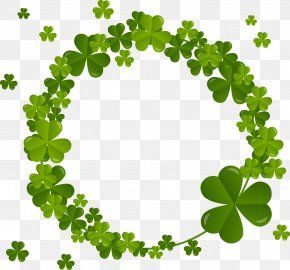 Clover Circle - Four-leaf Clover Shamrock Saint Patricks Day PNG