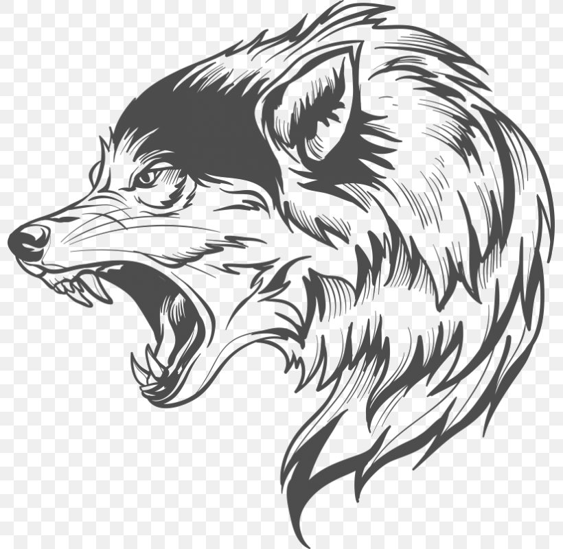 Gray Wolf Drawing Clip Art Png 800x800px Gray Wolf Animal Artwork Beak Black And White Download