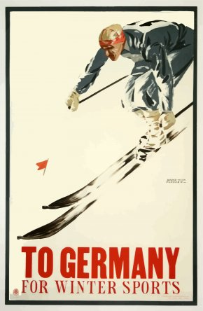 Poster - Germany Poster Artist Skiing PNG