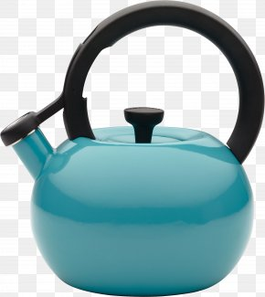 Blue Kettle Image - Teapot Kettle Kitchen Stove PNG