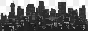 Cityscape Silhouette Clip Art Image - Skyline Cityscape Clip Art PNG