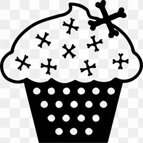 Goods - Birthday Cake Black And White Clip Art PNG