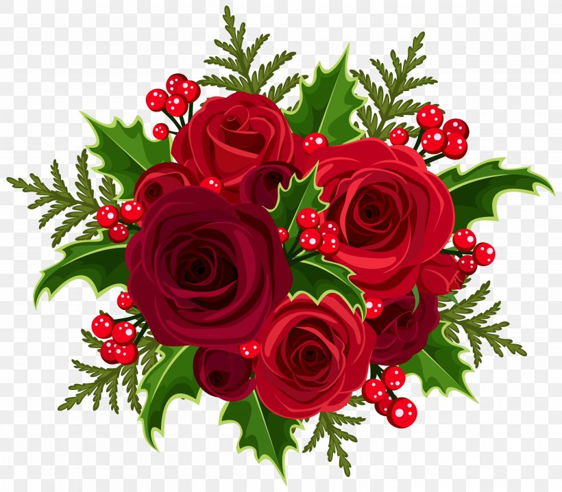 Christmas Rose Flower Bouquet Clip Art, PNG, 6250x5485px, Christmas Cake, Christmas, Christmas Decoration, Cut Flowers, Floral Design Download Free