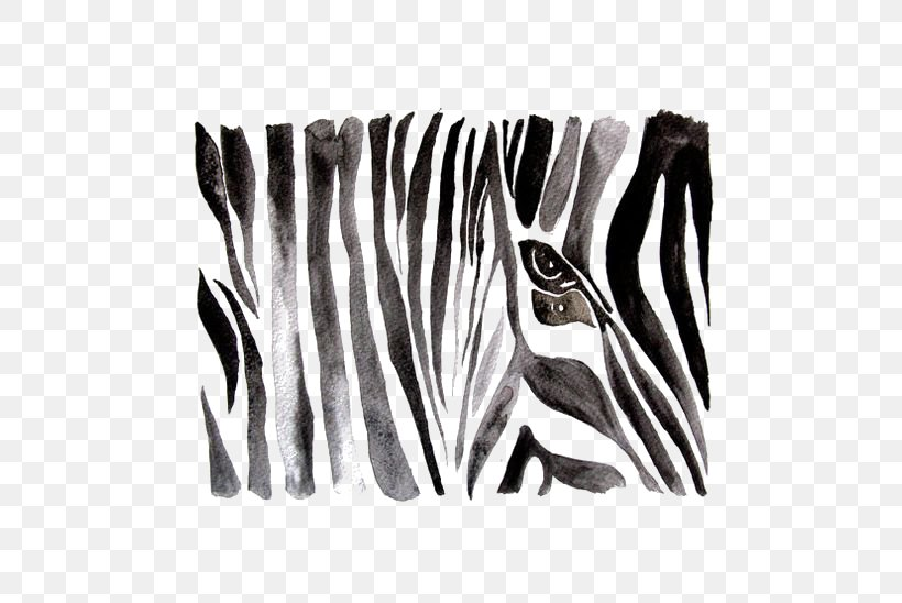 Zebra Black And White Watercolor Painting Drawing, PNG, 564x548px, Zebra, Art, Black, Black And White, Drawing Download Free