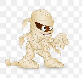 Cartoon Horror Demon Mummy - Cartoon Illustration PNG