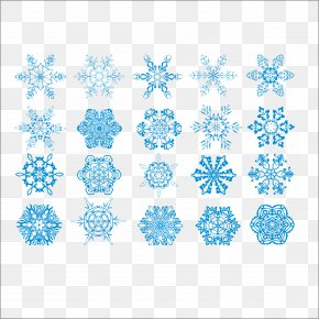 Various Shapes Of Snowflakes Vector Material - Snowflake Hexagon PNG