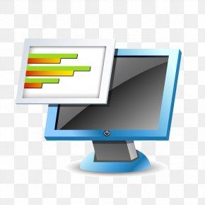 Blue Computer Data - Computer Monitors Data Blue PNG