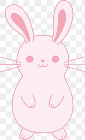 Bunny Rabbit - Easter Bunny Rabbit Black And White Clip Art PNG