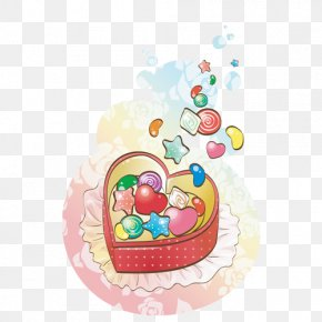 Candy In The Box - Lollipop Candy Apple Cartoon PNG