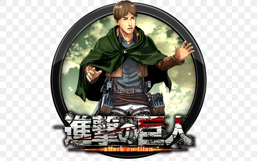A O T Wings Of Freedom Eren Yeager Attack On Titan 2 Armin Arlert Mikasa Ackerman Png 512x512px